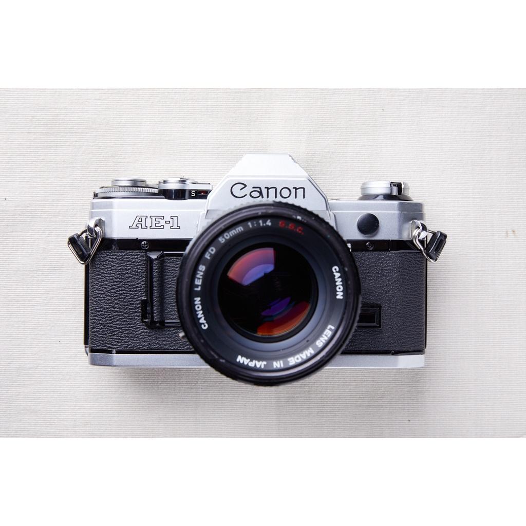 【森寫真機店】Canon AE-1 (銀) #947+new fd 50mm F1.4 s.s.c