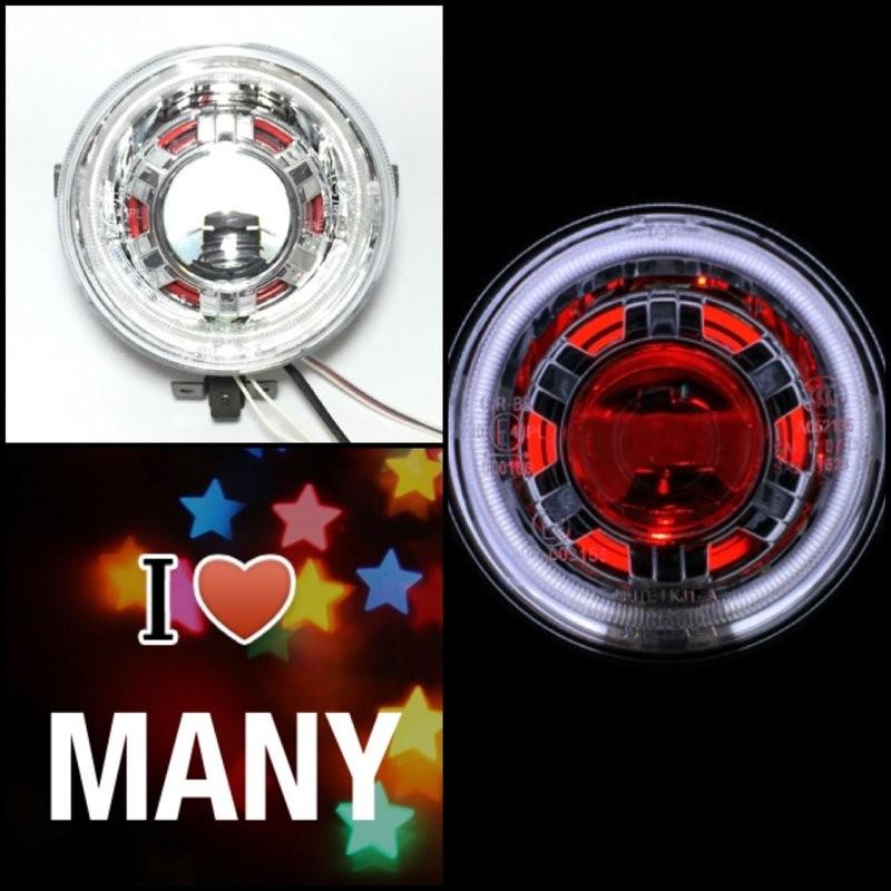 7號工廠 光陽 MANY 110 魚眼 大燈 全配 直上 紅彩管 三光圈 HID 雙光 遠近 原廠 非 LED