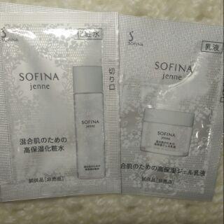 ㊣Sofina蘇菲娜透美顏飽水控油雙效化妝水1.2ml+飽水控油雙效水凝乳液0.6g(混合肌適用) 台中市