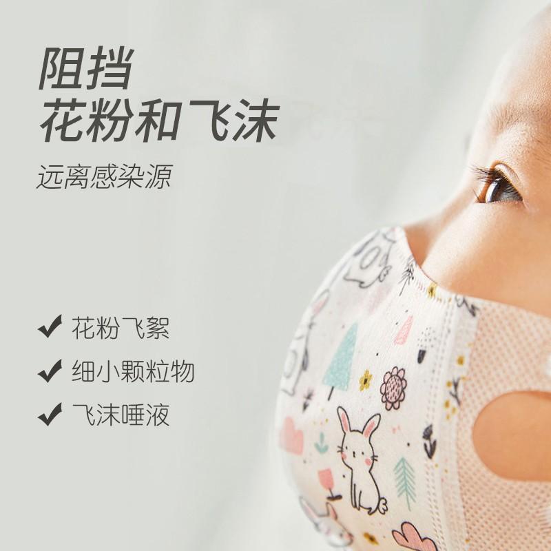 綠鼻子口罩嬰兒童1寶寶0到6-12個月小孩2嬰幼兒3歲專用透氣3d立體