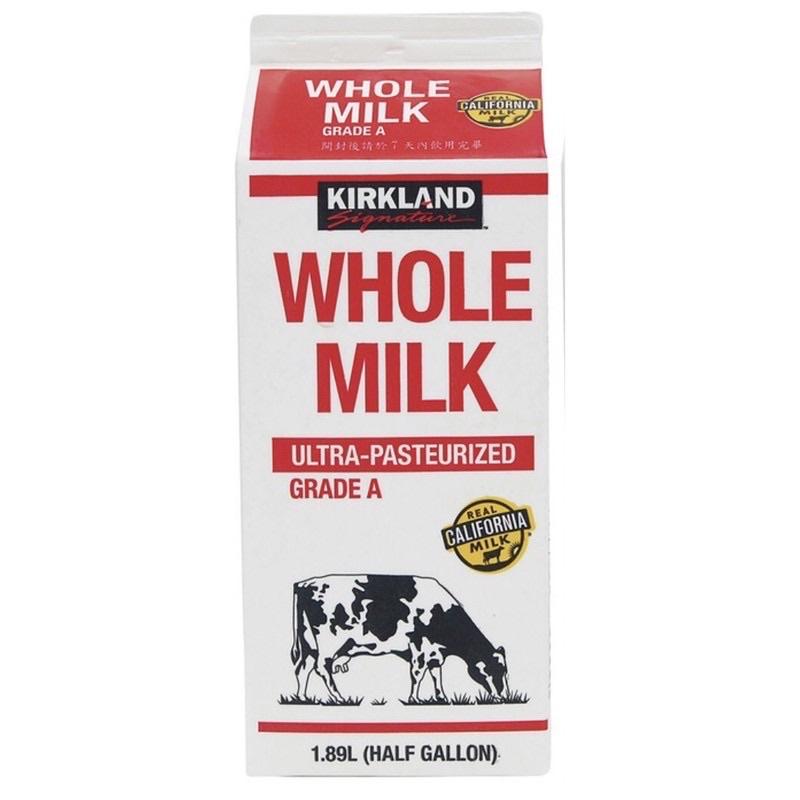 岡山梓官面交好市多 鮮奶牛奶 Kirkland Signature 科克蘭全脂鮮乳 1.89公升