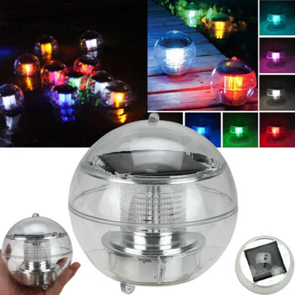 LED燈水上浮燈太陽能七彩浮球燈(顏色:透明)