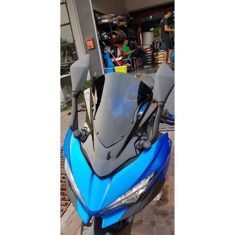 Moto橘皮 Ninja400 加高風鏡 水轉碳纖維 NINJA300 CBR650F CBR650R CBR500R