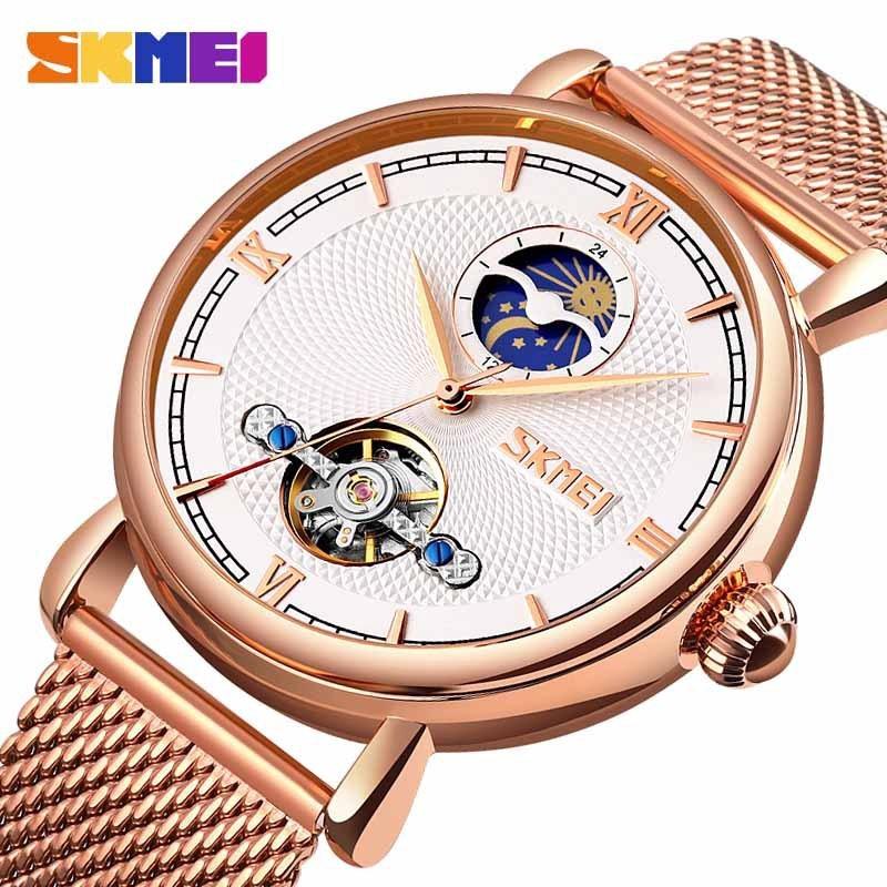 時刻美 SKMEI 9220 商務時尚飛輪全自動機械錶 男士鏤空手錶 機械手錶 男士商務手錶 腕錶