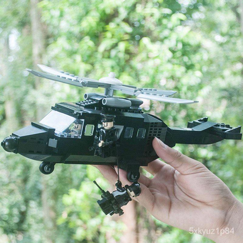 樂高直升機系列積木軍事裝甲車模型城市男孩玩具警察局拼裝組特警