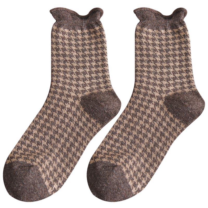 冬季必備批發價堆堆襪女韓國秋冬潮流個性中筒襪韓版日系復古加絨加厚保暖羊毛襪