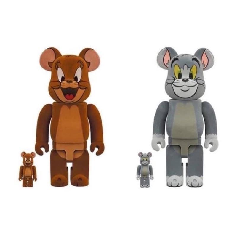 Be@rbrick庫柏力克熊.植絨湯姆貓與植絨傑利鼠500%庫柏力克熊湯姆貓傑利鼠