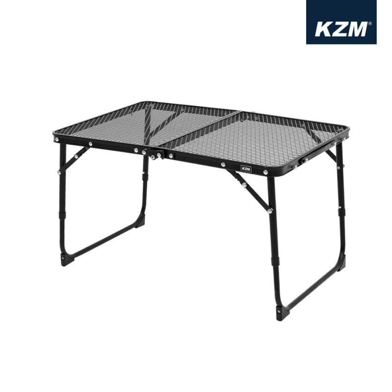 KAZMI 迷你鋼網折疊桌-黑色最新款【露營狼】