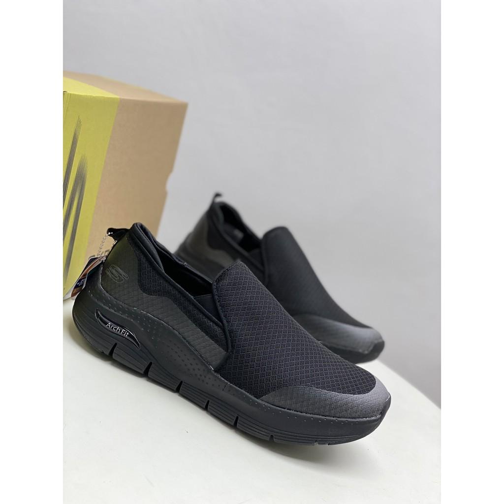 Skechers斯凱奇男鞋一脚蹬懶人鞋健步鞋柔軟網布休閒運動鞋55510(5號鞋倉)