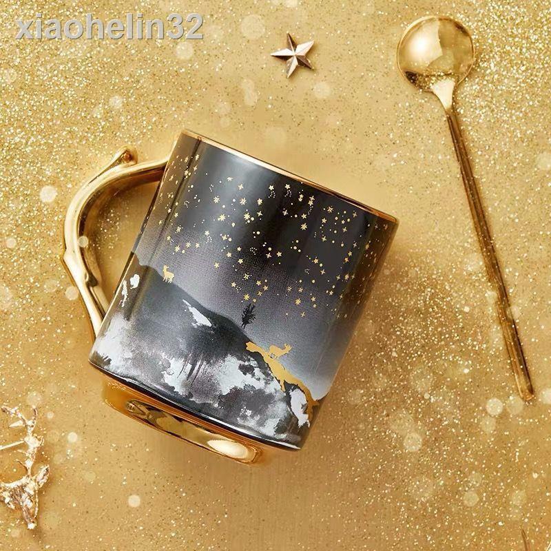 現貨速發▩✽共禾京品 正品星辰麋鹿陶瓷創意馬克杯送禮家用辦公室水杯咖啡杯