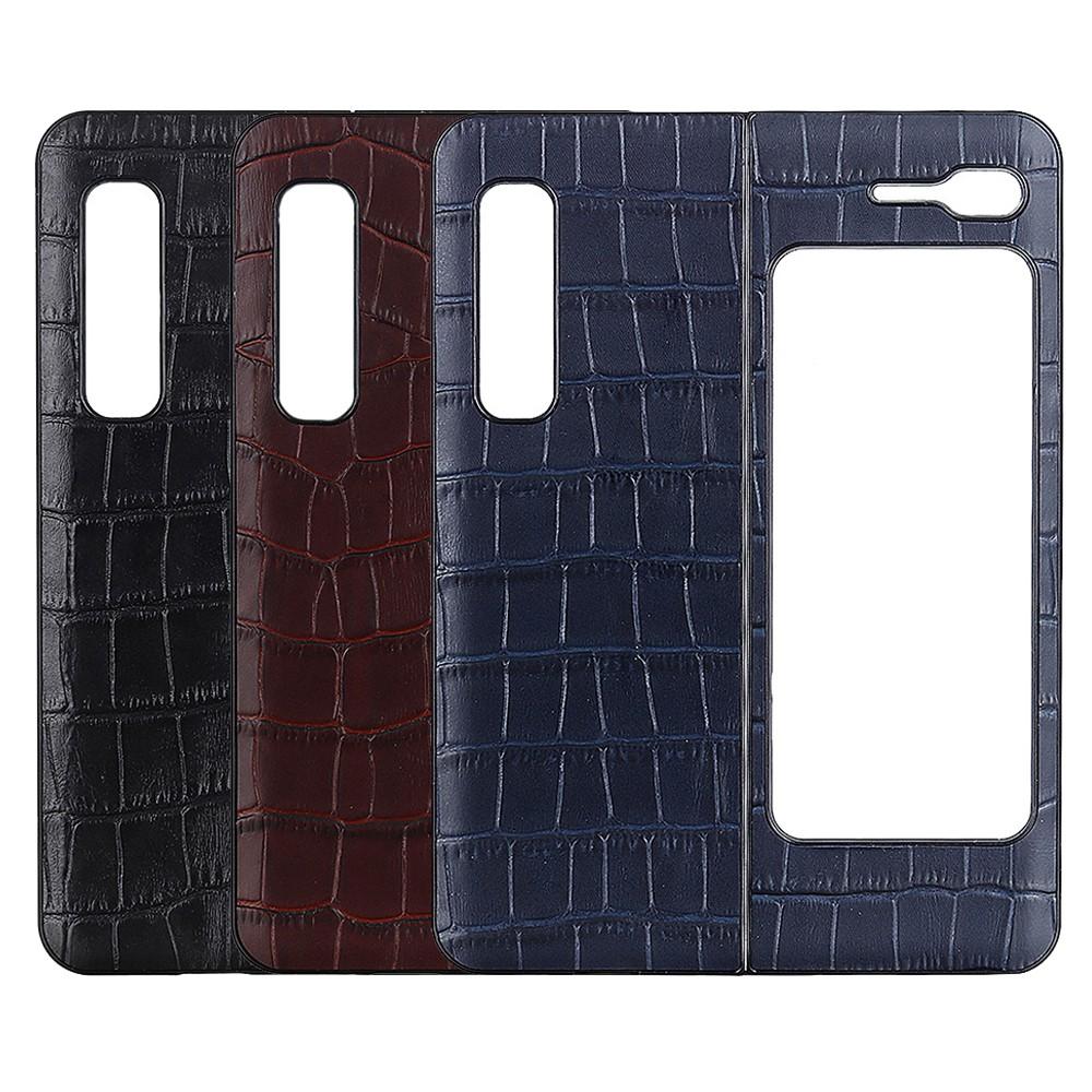 Samsung Galaxy Z Fold2 Fold 皮革保護殼摺疊分離硬殼超薄保護殼真皮牛皮鱷魚紋壓紋造型設計