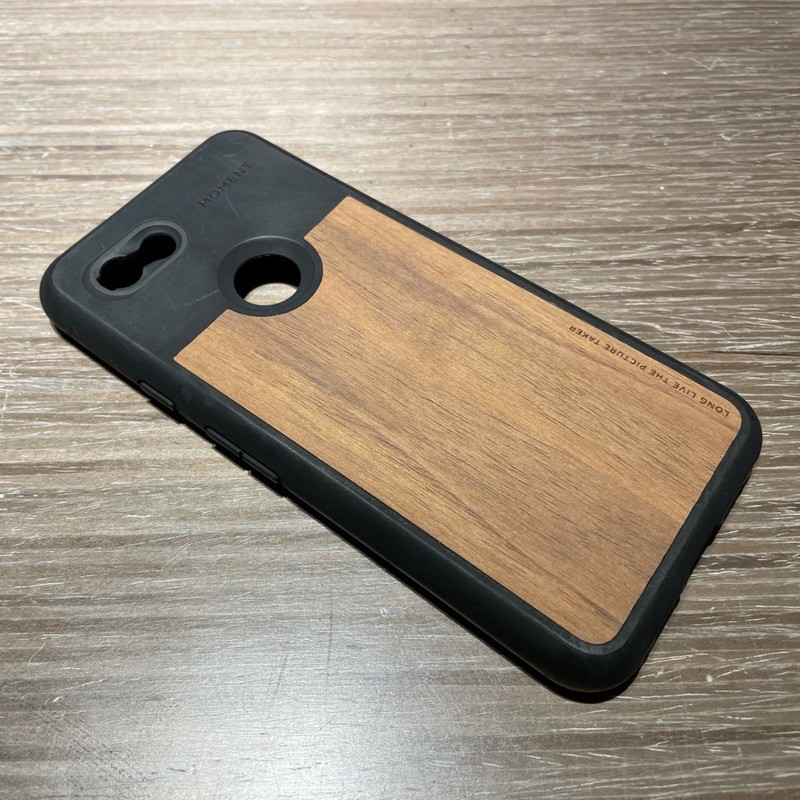Google Pixel 3a 配件 Moment 胡桃木背板保護殼 二手