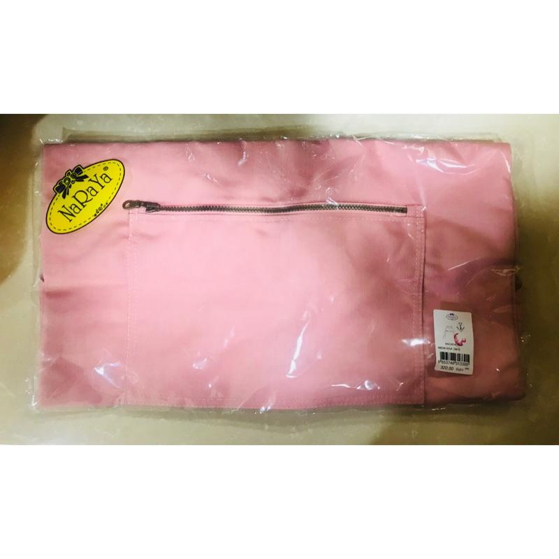 [NaRaYa][全新]曼谷包輕便粉紅牛仔帆布後背包
