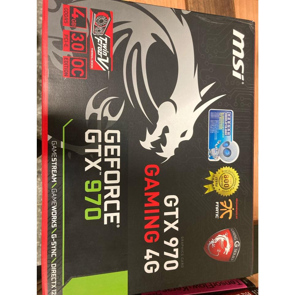 微星 GTX970 4G GAMING 高階紅龍版 遊戲顯示卡 效能近GTX1060