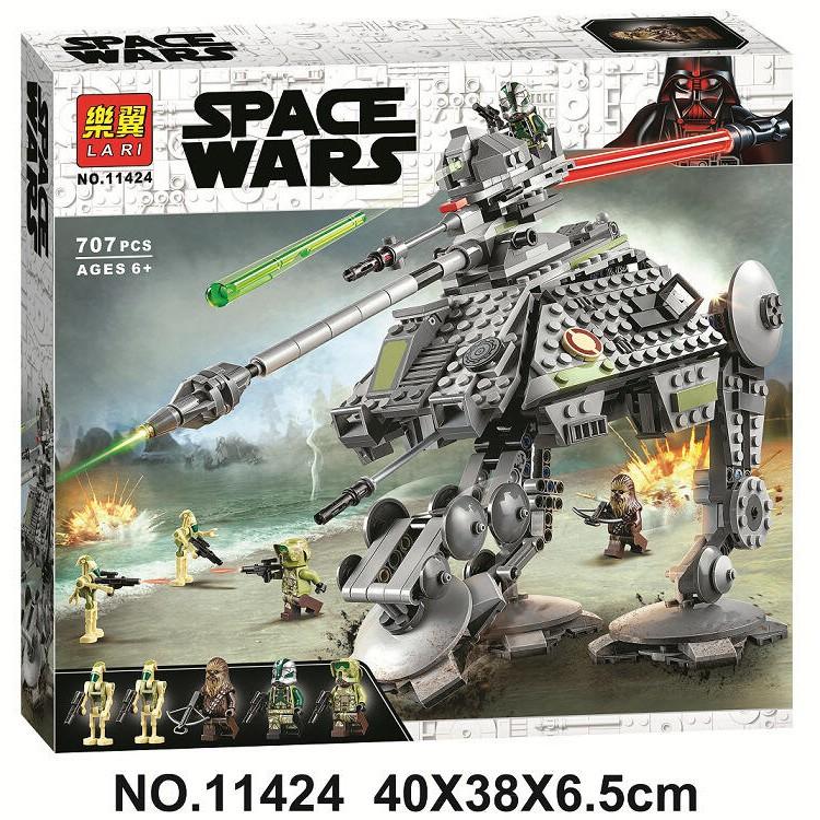 積木 樂翼11424 AT-AP 全地形攻擊步行機甲 星際大戰 機器人 楚巴卡 相容樂高75234