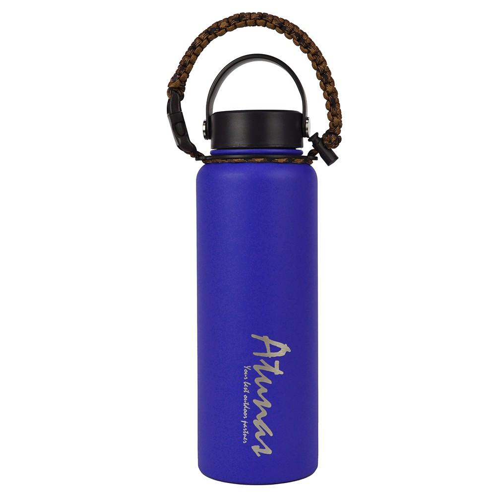 【ATUNAS 歐都納】不鏽鋼運動真空保溫瓶1100ML (A1KTAA04N 天藍/食品級304/寬口/雙層真空)