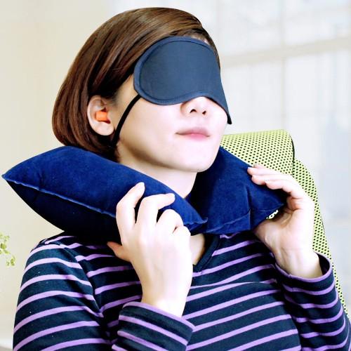 旅行優眠組眼罩 頸枕 耳塞 三合一 出國旅遊 搭飛機 旅遊小物 L-747 廠商直送 現貨