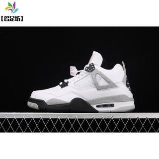 【名足坊】Air Jordan 4 White Cement AJ4 喬4白水泥 白灰 840606-192
