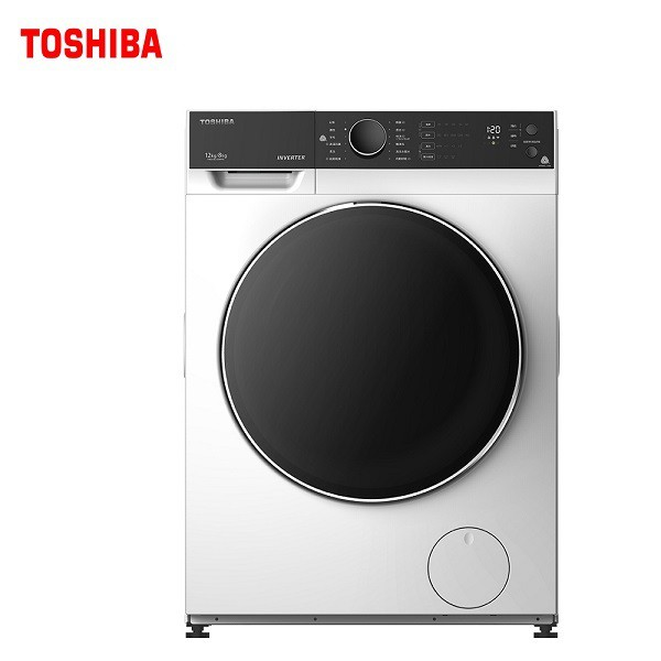TOSHIBA 東芝 12kg變頻溫水洗脫烘滾筒洗衣機 TWD-BJ130M4G (含基本安裝+舊機回收)