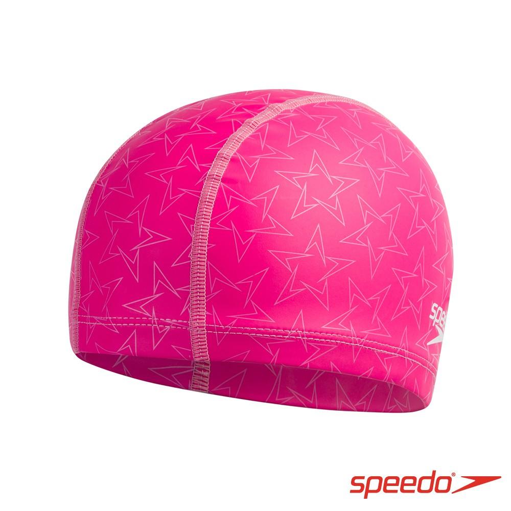 Speedo 泳帽 成人合成泳帽 粉紫 SD812238D667 素色泳帽 泳具 游泳 游泳配件