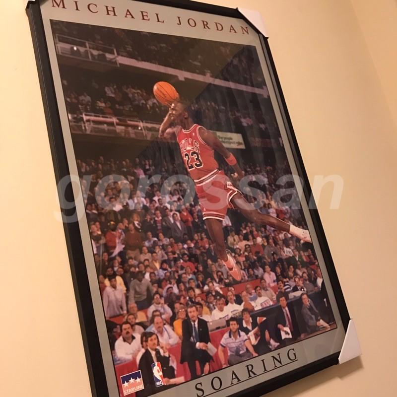 原版 1988 Air Jordan soaring poster 空中飛人 海報 喬丹 麥可喬登 灌籃 簽名 NBA
