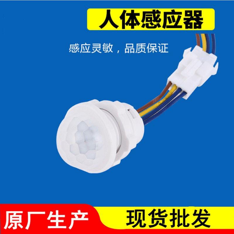 【桃園超速出貨】110V可用PIR紅外線人體感應開關控制小電器吸頂燈智慧延時模組低壓12VLED燈