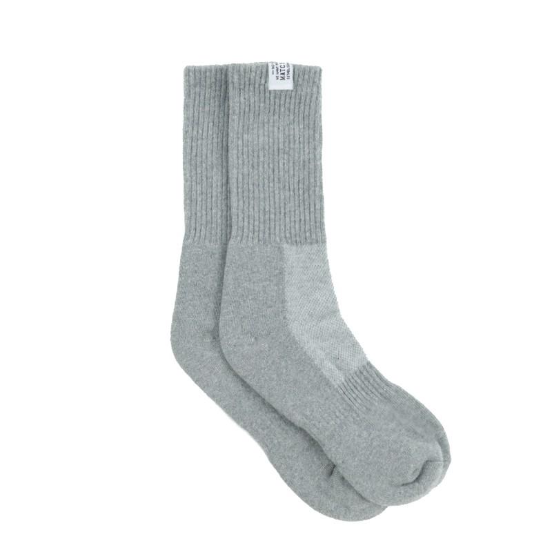 Matchwood Basic Sock 經典布標中筒襪 灰色款 官方賣場