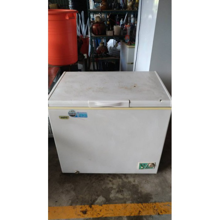 【尚典中古家具】SAMYO三洋臥式冷凍冰箱(249L)(110V) 中古 二手 上掀式 電冰櫃 冷凍櫃