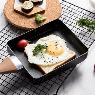 秒杀!日本製玉子燒煎鍋 純鐵鍋 日式厚蛋玉子燒鐵鍋 露營用平底鍋