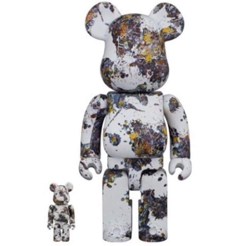 全新 Be@rbrick bearbrick Jackson Pollock Splash 潑墨 400%+100%