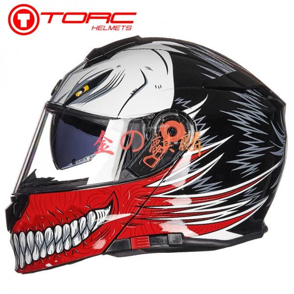 TORC揭面盔四季通用雙鏡片全盔四季半盔賽車頭盔騎行裝備T271 機車 安全帽 機車安全帽