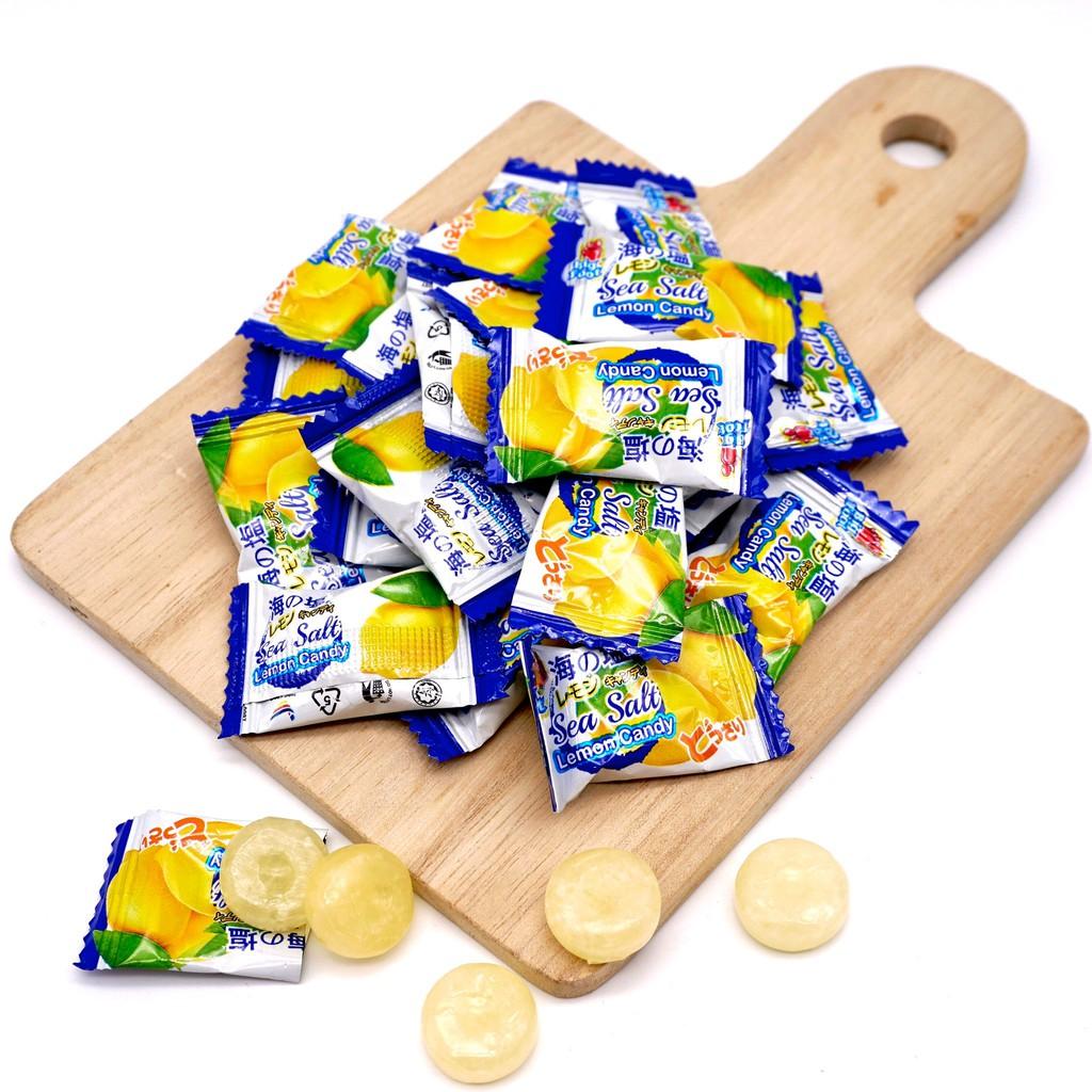 【嘴甜甜】BigFoot海鹽檸檬糖 200公克 包裝糖果系列 海鹽糖 純素