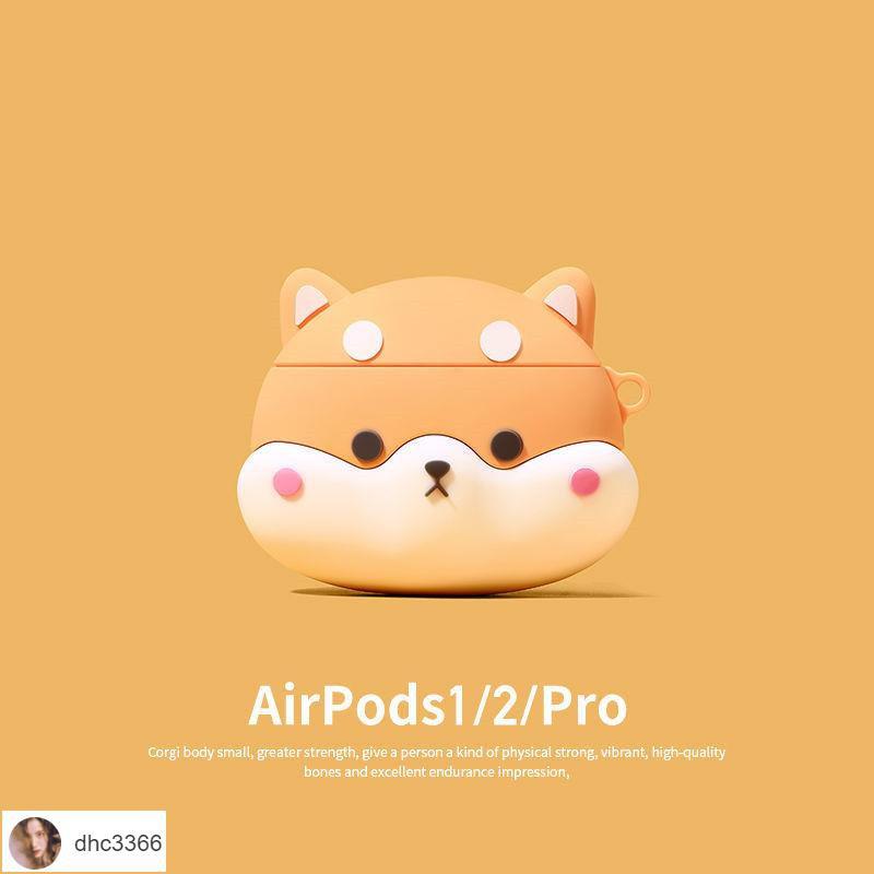 🎀Lisa耳機殼🎀可愛柴犬airpods1/2代保護套創意硅膠蘋果三代pro3藍牙無線耳機殼