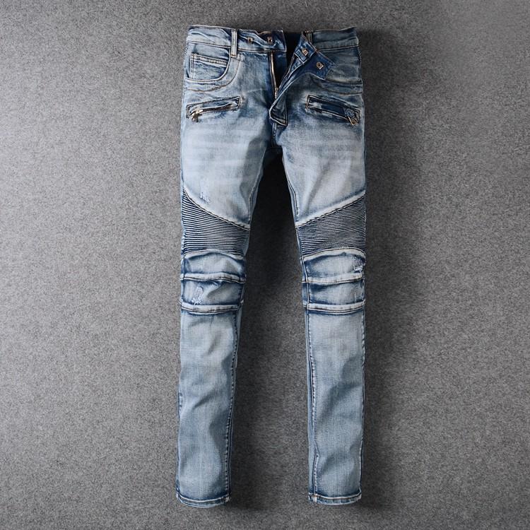 Balmain 巴爾曼經典款潮流男款修身小腳牛仔褲 957