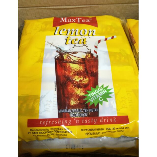 現貨印尼 MaxTea即溶檸檬茶LemonTea檸檬紅茶人氣商品