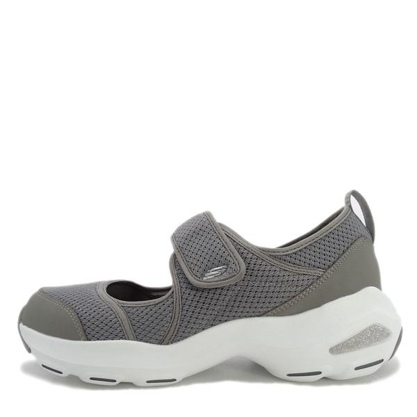 SKECHERS D'LITE ULTRA [12862GRY] 女鞋 休閒 時尚 運動 透氣 增高 吸震 魔鬼氈 灰白