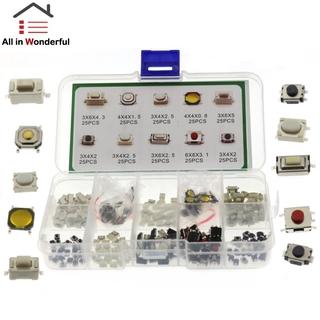 Ws Shop 250 件 /  套 10 種觸覺按鈕觸摸開關遙控按鍵微動開關