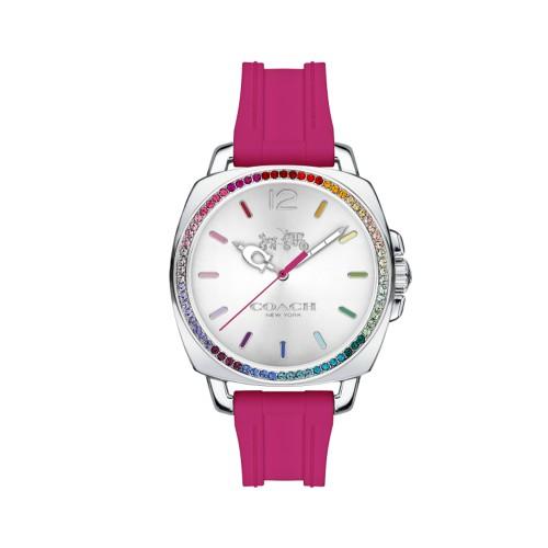 COACH 彩色水晶晶鑽橡膠錶帶/14502529