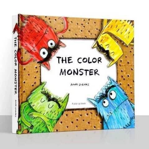 英文原版繪本The Color Monster3D立體書我的情緒小怪獸