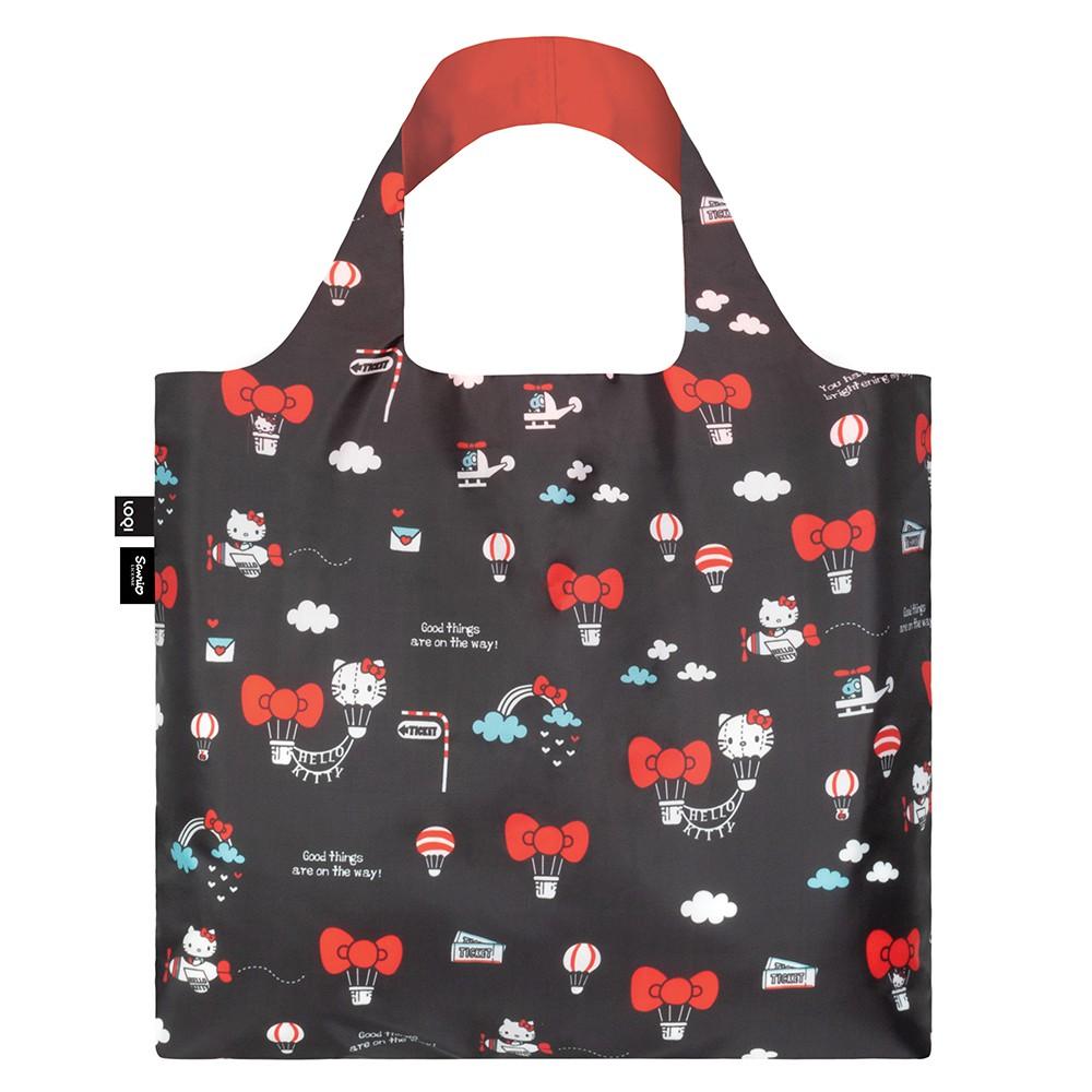 LOQI 春捲包/Hello Kitty 熱氣球 環保袋.購物袋.收納袋