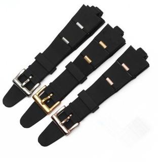 現貨 適配寶格麗橡膠手錶帶 22mm 24mm Bvlgari凸口黑色硅膠錶鏈男女款