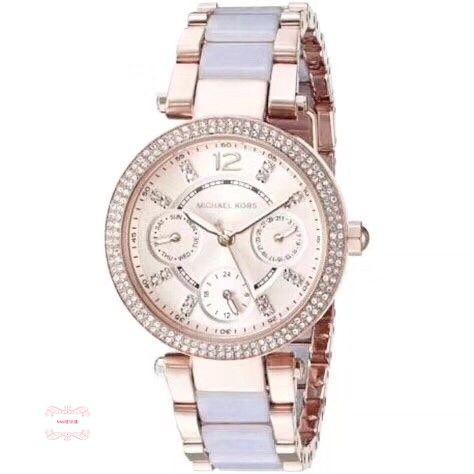 Michael Kors MK手錶 MK6327 三眼計時手錶 鋼帶手錶 時尚腕錶 歐美代購