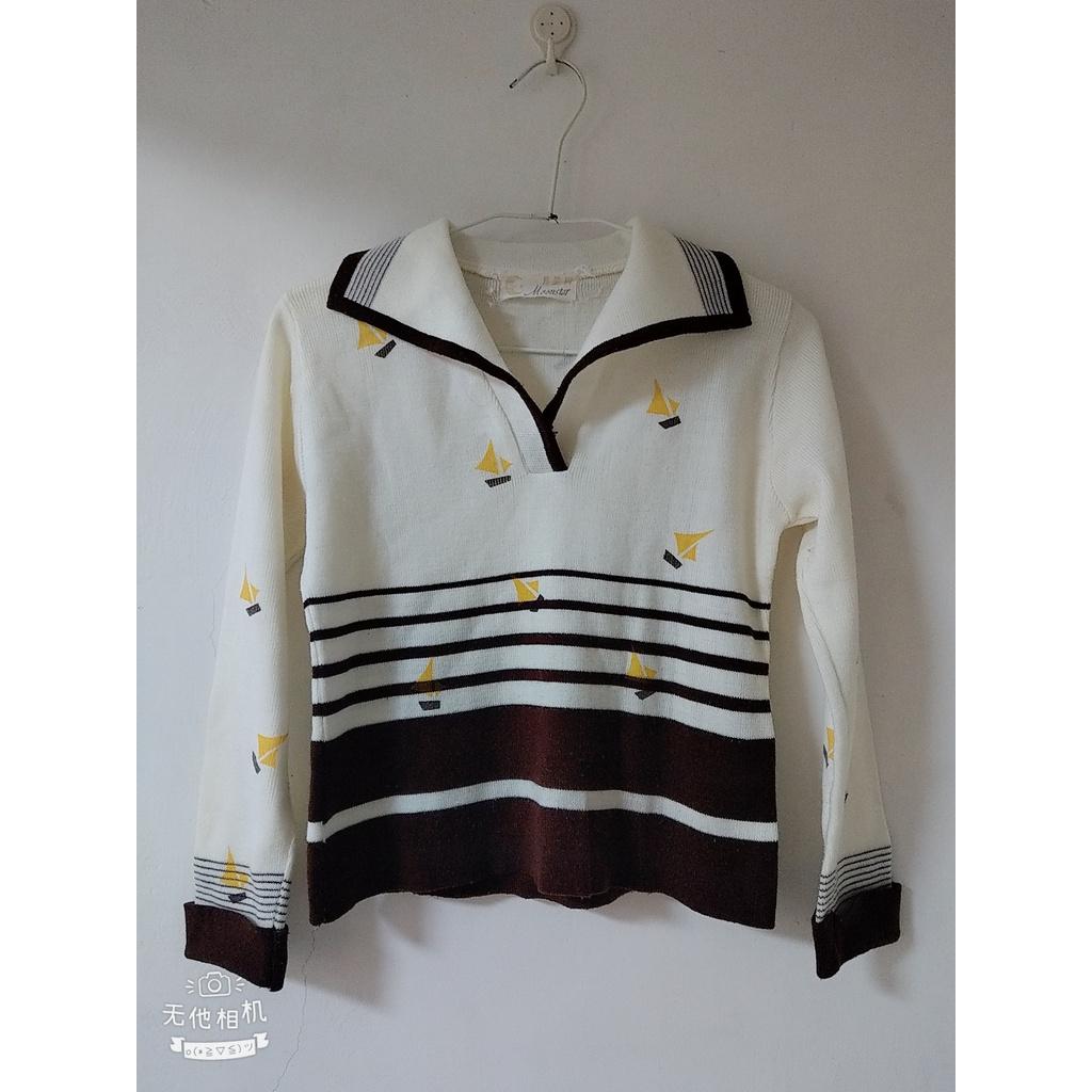 (二手衣)Moonstar襯領型帆船毛衣