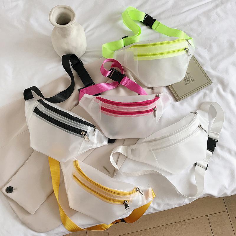 【免運】ins超火胸包 時尚斜挎包女百搭簡約潮流學生包包簡約寬帶腰包
