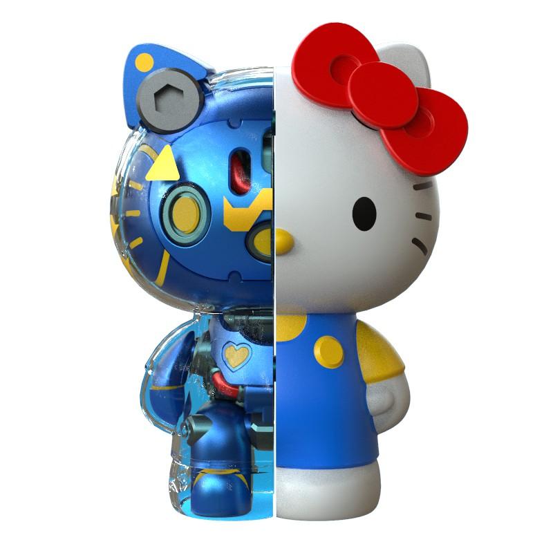 正品 MECHA HELLOKITTY半机械凯迪猫系列一代盲盒 潮玩手办公仔摆件 凱蒂貓半骨手辦 可拆卸拼裝潮流盒玩