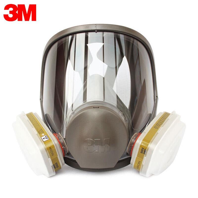 3M防毒面具口罩6800+6000系全面具面罩七件套全面型防護噴漆裝修