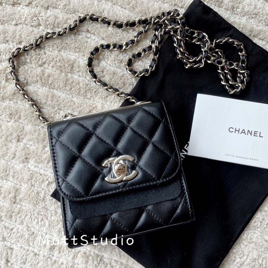 『MattStudio 二手』Chanel香奈兒 女包 trendy cc mini菱格鏈條斜挎包 單肩包 A81633