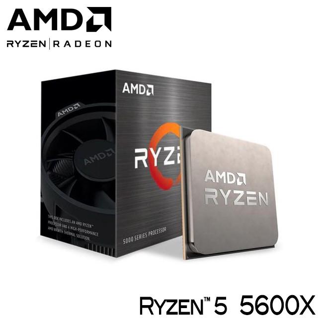 AMD Ryzen R5 5600X 6核/12緒 3.8G AM4 無內顯 CPU 代理商 公司貨 遊戲處理器