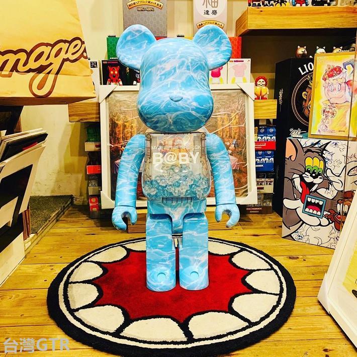 ✌【小G】✌Bearbrick400%1000%暴力熊積木熊水✌波紋千秋潮流桌面客廳擺件裝飾手辦 潮人玩具 庫柏力克熊