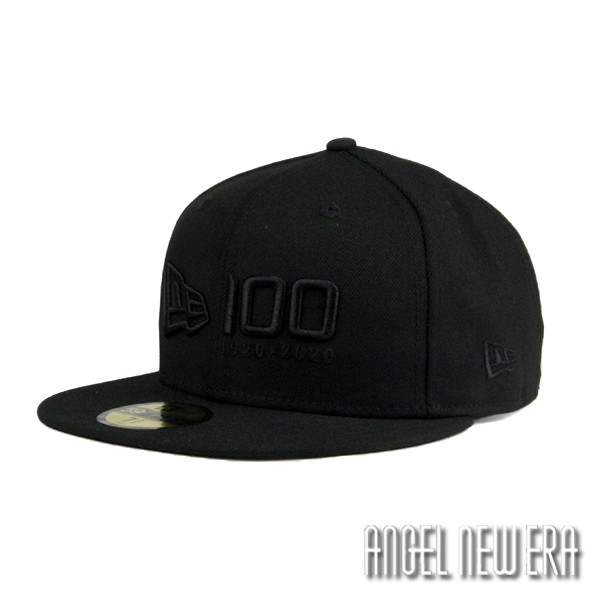 【NEW ERA】100週年 紀念帽 黑魂 排字款 59FIFTY 棒球帽 獨家限量【ANGEL NEW ERA】